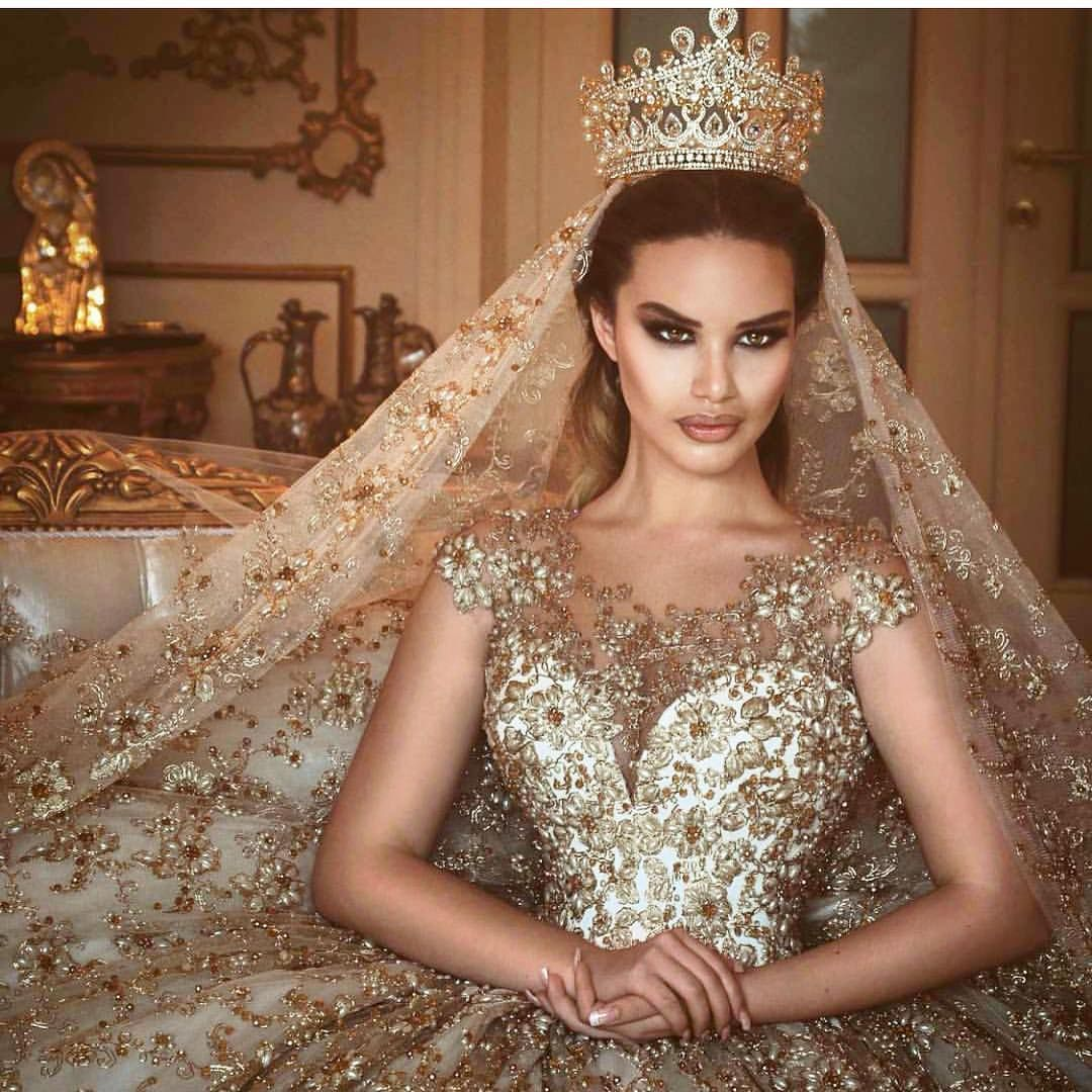 Beautiful Gold Wedding Dresses: Nigerian Wedding : Photo