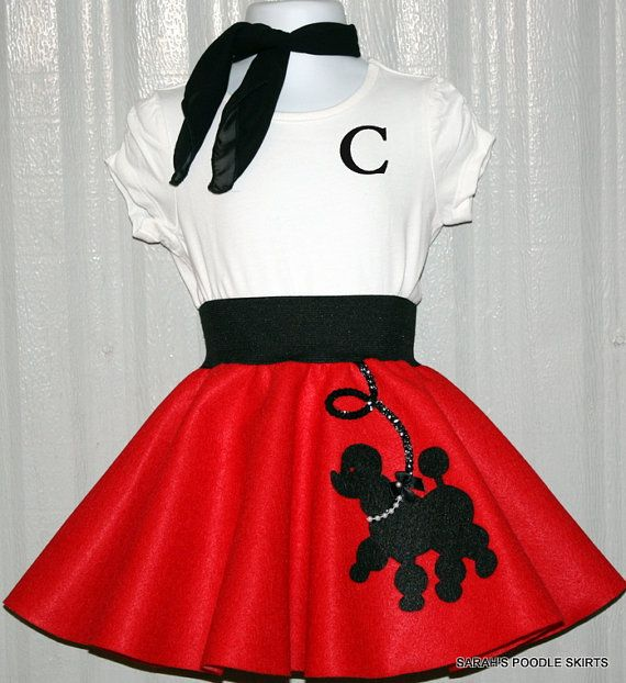 95104c7d3f1af Adorable Toddler 3pc Prancing poodle skirt outfit Your choice of Size and  Color 0-12mos,18-24mos,1t-2t,3t-4t on Etsy, $48.97