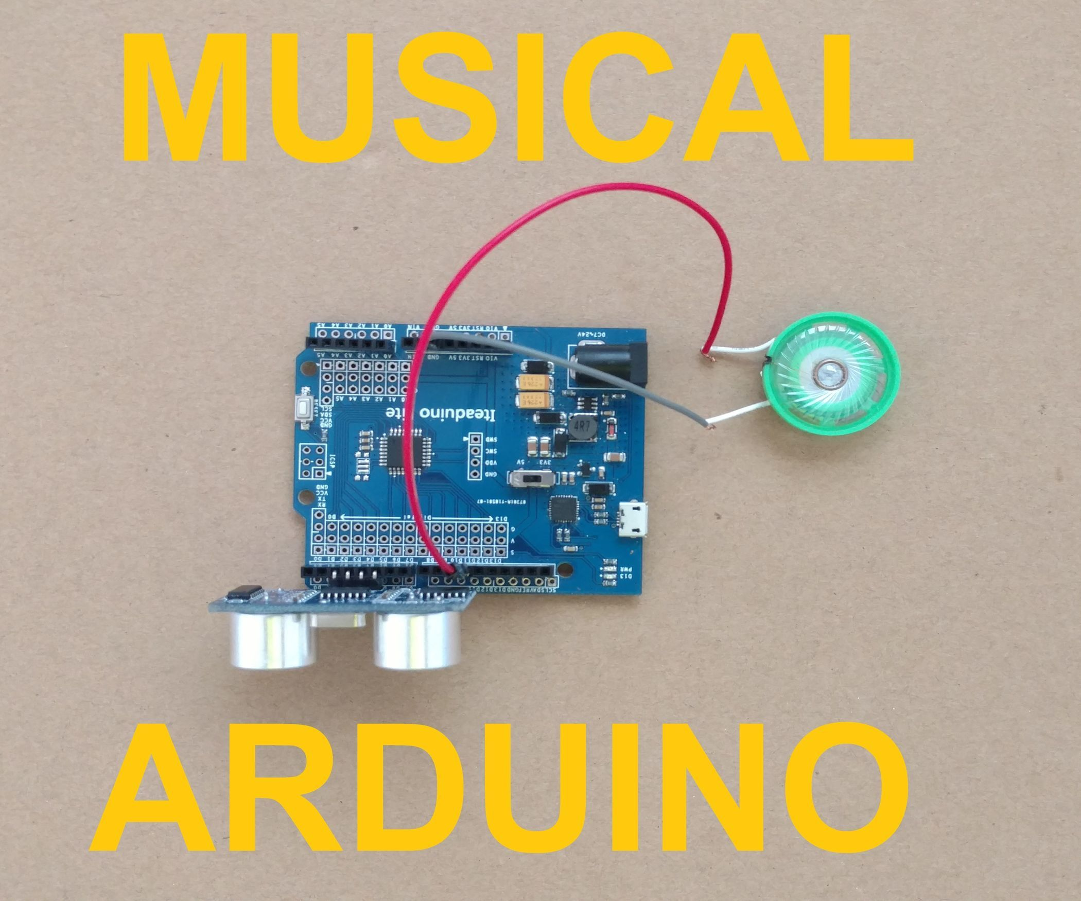 Musical Instrument Using Arduino + Ultrasonic Distance Sensor