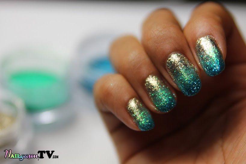 loose glitter gel nails, gel sparkle gradient nails   D.I.Y Ideas ...
