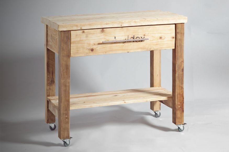 kitchen work table from reclaimed wood krashim