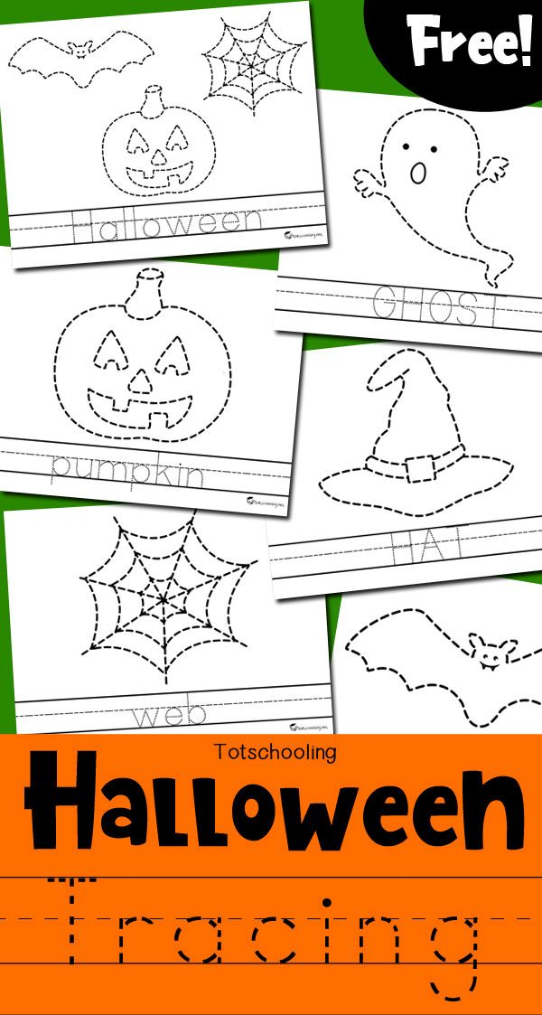 FREE Halloween Themed Tracing And Coloring Pages For Kids To Practice Fine Motor Skills Handwriting Can Trace A Picture Word