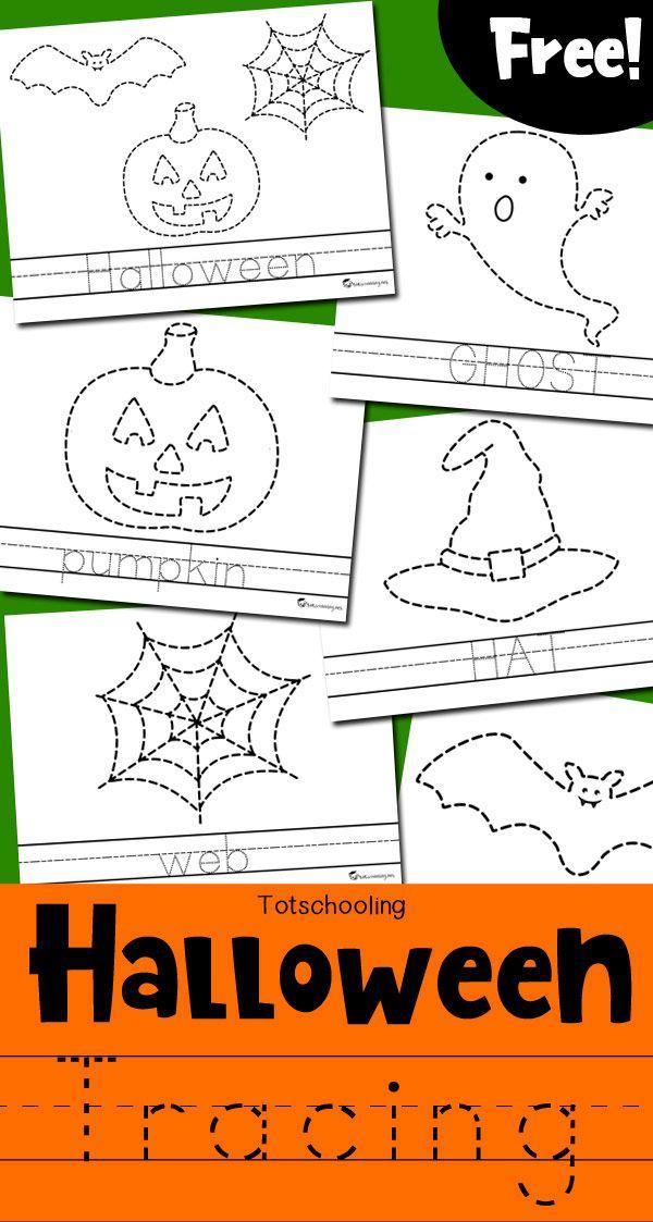Halloween Tracing Worksheets | Club de niños, Libro para niños y ...