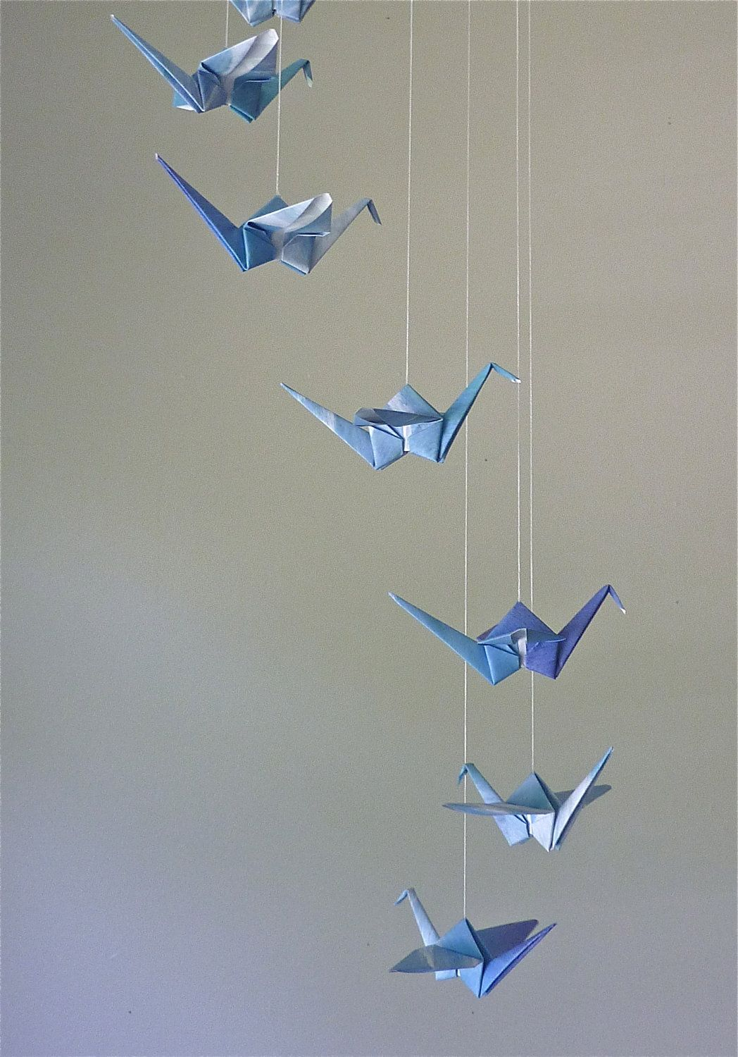 Origami Crane Mobile Children Decor Baby Mobile Eco ... - photo#46