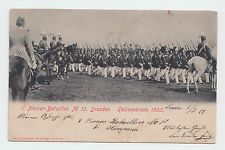 Germany 1903, Kaiserparade, military, Dresden, used postcard, signed