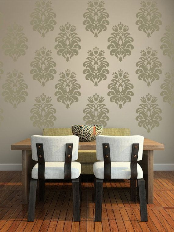 Delightful Solving Our Dark Bedroom: Wall Decal Damask Wall Pattern Tulip Design By  WallStarGraphics, $95.00
