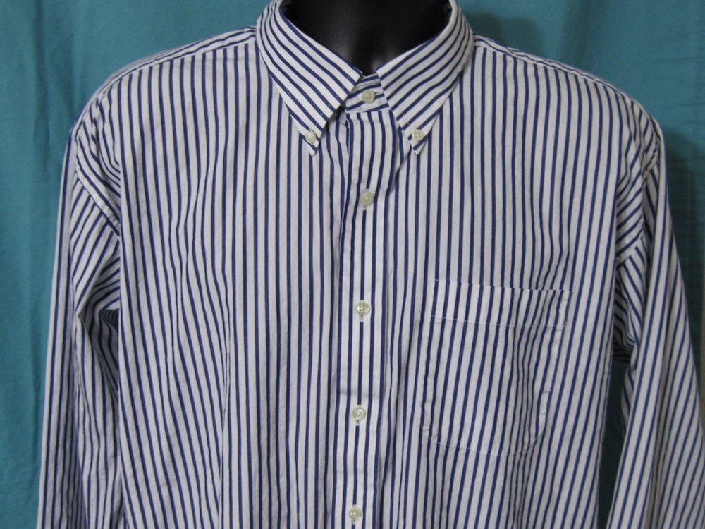 Jos A Bank Dress Shirt 17 1/2 35 Striped Long Sleeve