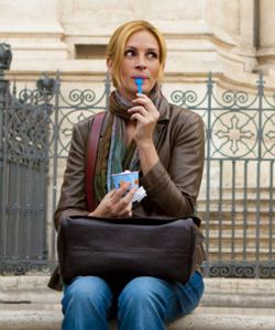 """Julia Roberts in Eat Pray Love.  """"Ruin is a gift. Ruin is the road to transformation."""""""
