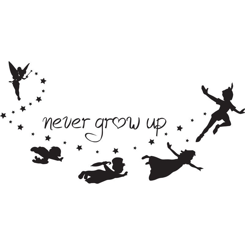 Never Grow Up Peter Pan Silhouette Google Search Tatoo