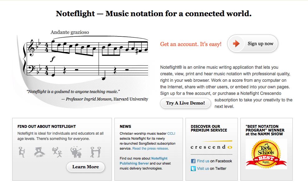 http://www.noteflight.com - noteflight is a free notation program ...