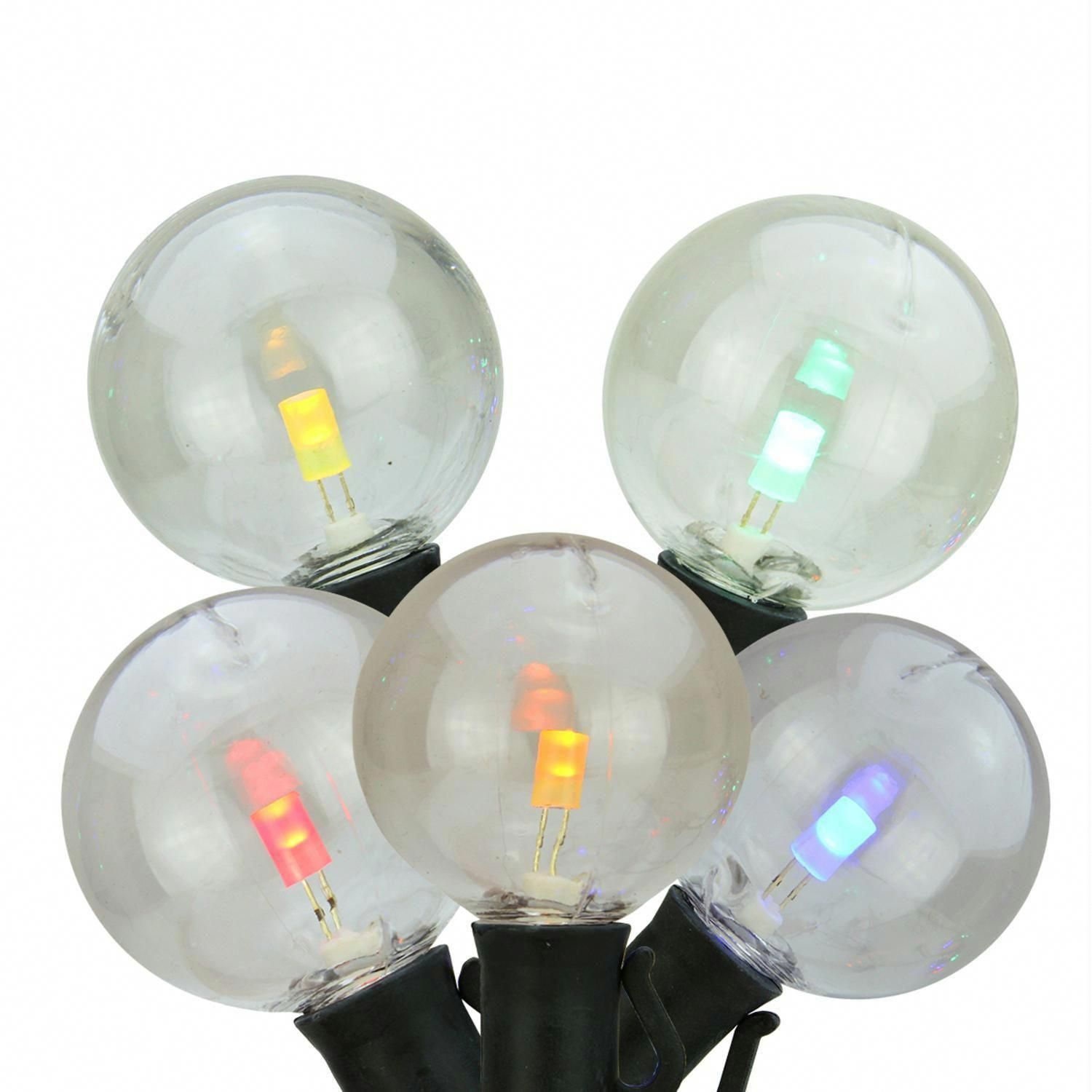 Set of 25 Multi Color LED G40 mercial Grade Patio or Christmas