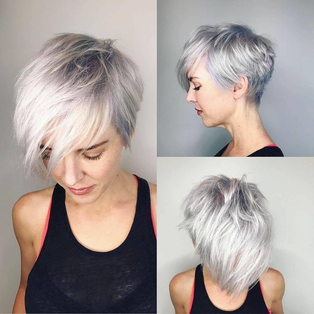 Latest Short Haircut for Fine Hair, Stylish Short Hair in 2018 | Long pixie  hairstyles, Short hair with layers, Stylish short hair
