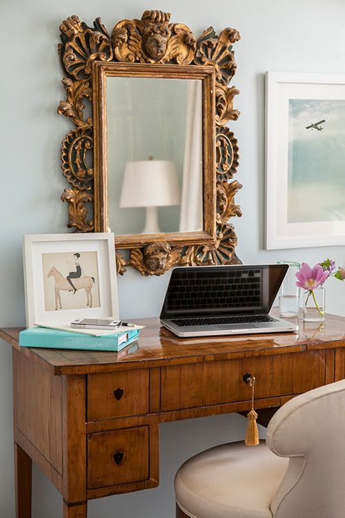 Pin by Kathy Kuo Home on Mirror Mirror   Pinterest   Desks ...