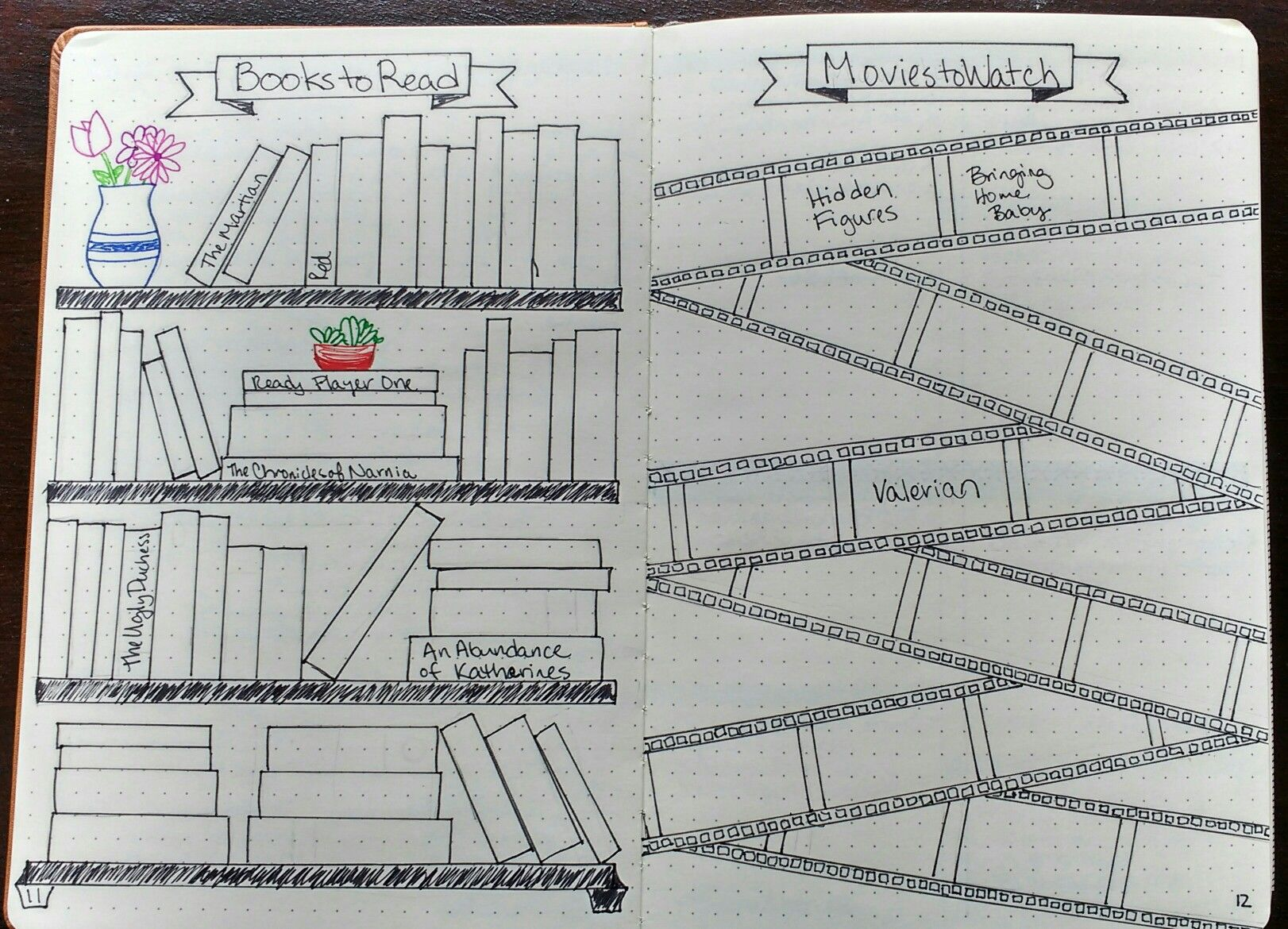 Books To Read And Movies To Watch Collection In My Bullet Journal Bujo Bullet Journal Ideas Pages Bullet Journal Inspiration Bullet Journal