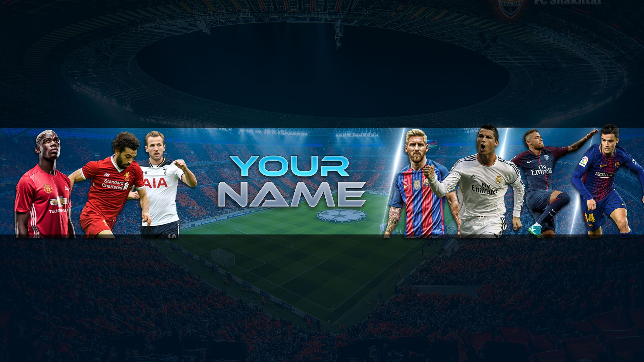 FREE Football Banner Template For YouTube Channel 24