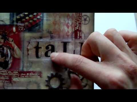 Mixed Media Journal Page - Talk To Me