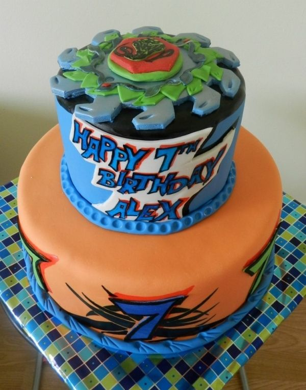BeyBlade Cake... Koby would love this!