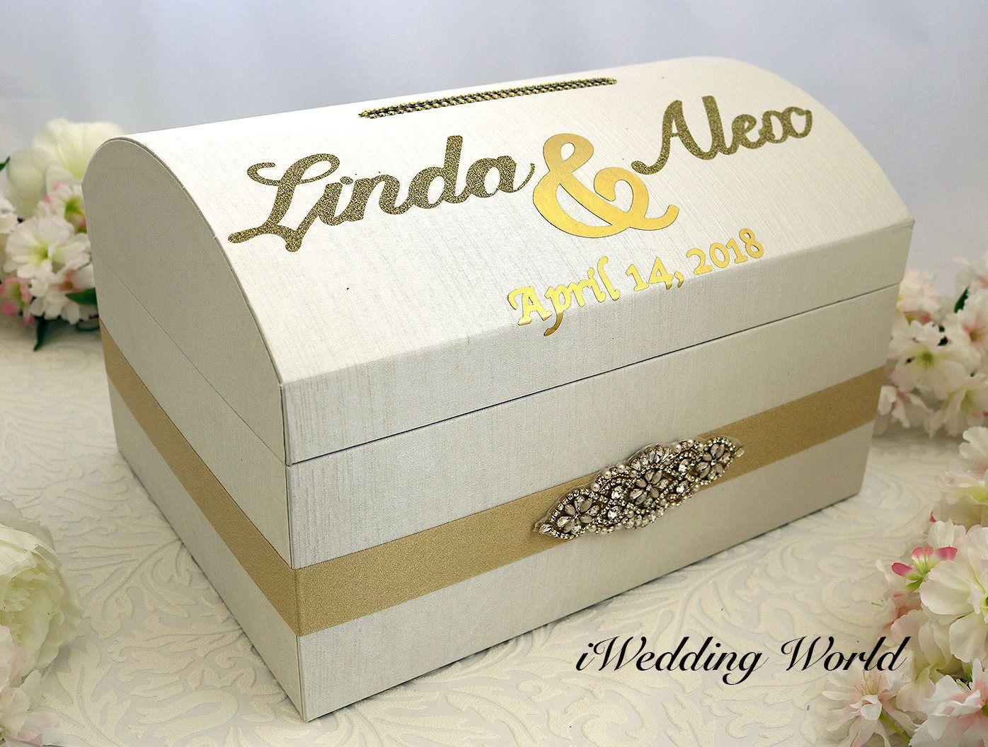 Personalized Wedding Card Box, Wedding Card Holder, Custom Gift Box ...