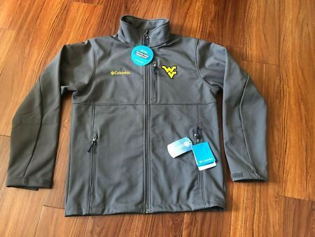New Rare Columbia West Virginia WVU Mountaineers Men's Full Zip Shell Jacket Medium. Mens Jackets #westvirginia