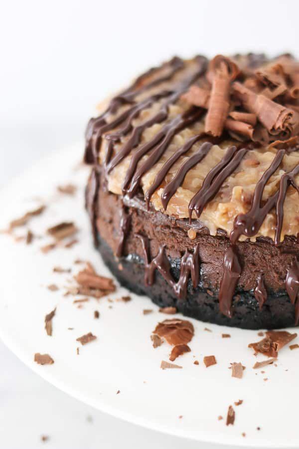Instant Pot German Chocolate Cheesecake