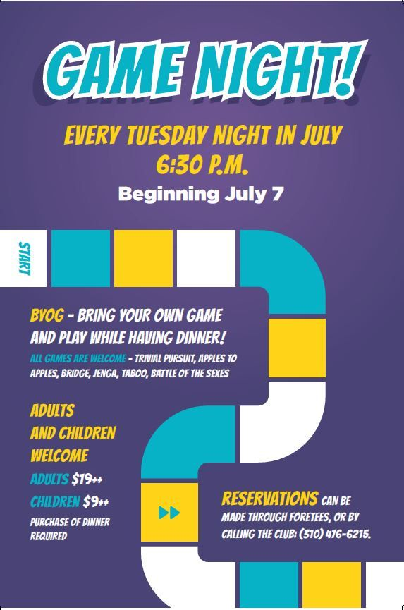 Game Night Flyer Poster Template Family Dining And Events