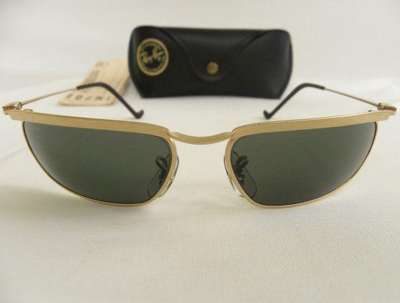 f3603f1fcd New Vintage B L Ray Ban New Deco Metal Rectangle Olympian Matte Gold G-15  W2572 Predator Sunglasses usa