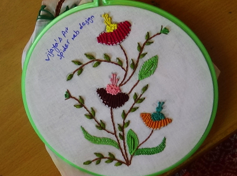 Hand Embroidery Designs # 153 - Spider web Design | Pinterest