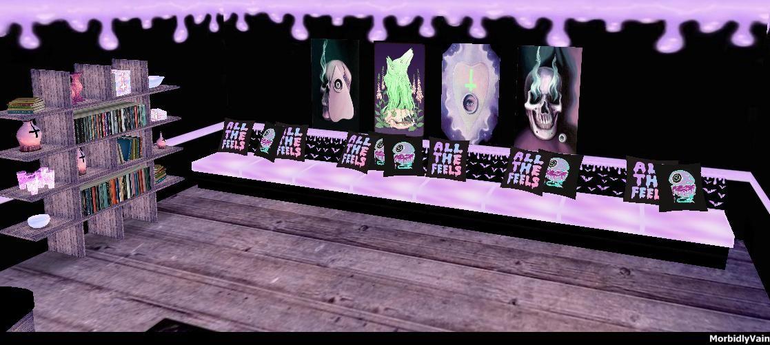 Pastel Goth 3d design couch posters shelf room art | Imvu ...