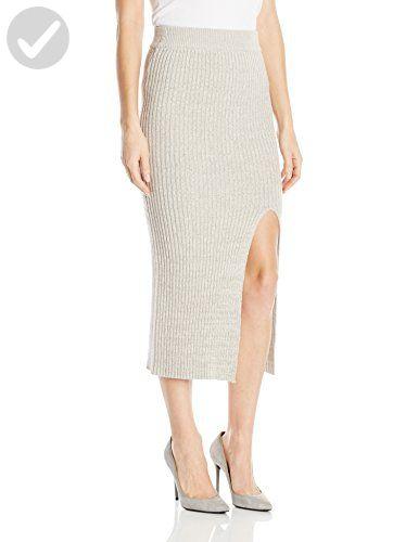 de70eea68 BCBGeneration Women's Rib Slit Skirt, Light Heather Grey, Large - All about  women (*Amazon Partner-Link)