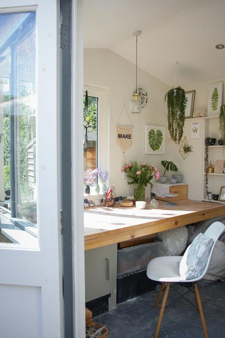 Katie robbins studio tour botanical workspace homedesign also  rh pinterest