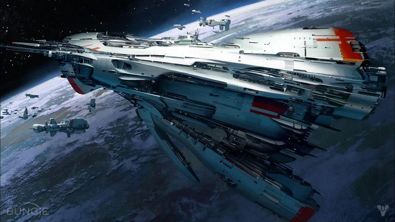 Conceptual spaceships of the future (photos) 47