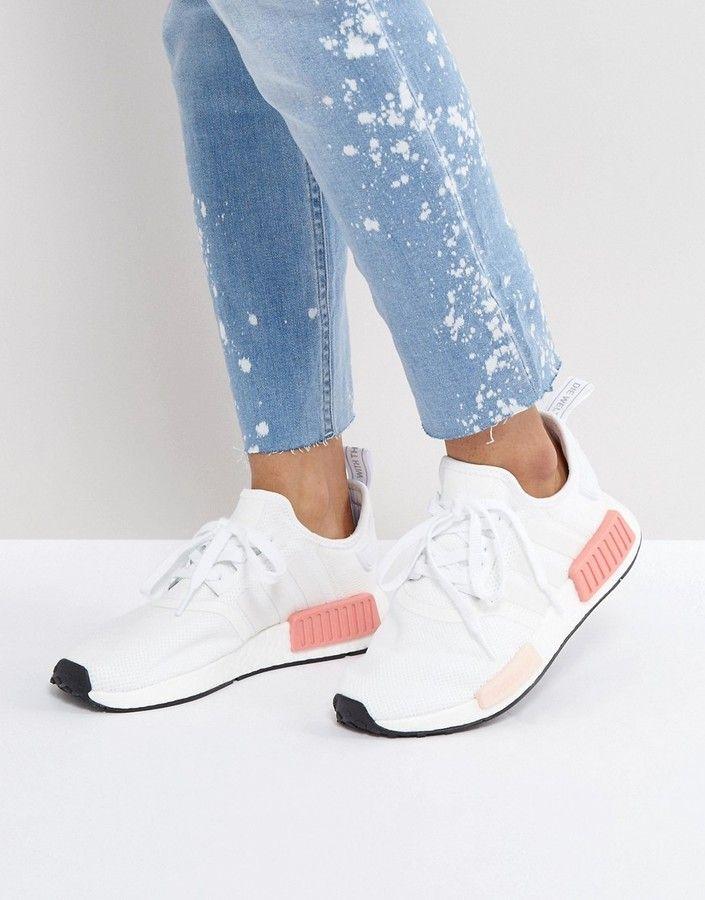 Adidas adidas Nmd R1 Basket In Blanc And Rose My Wishlist