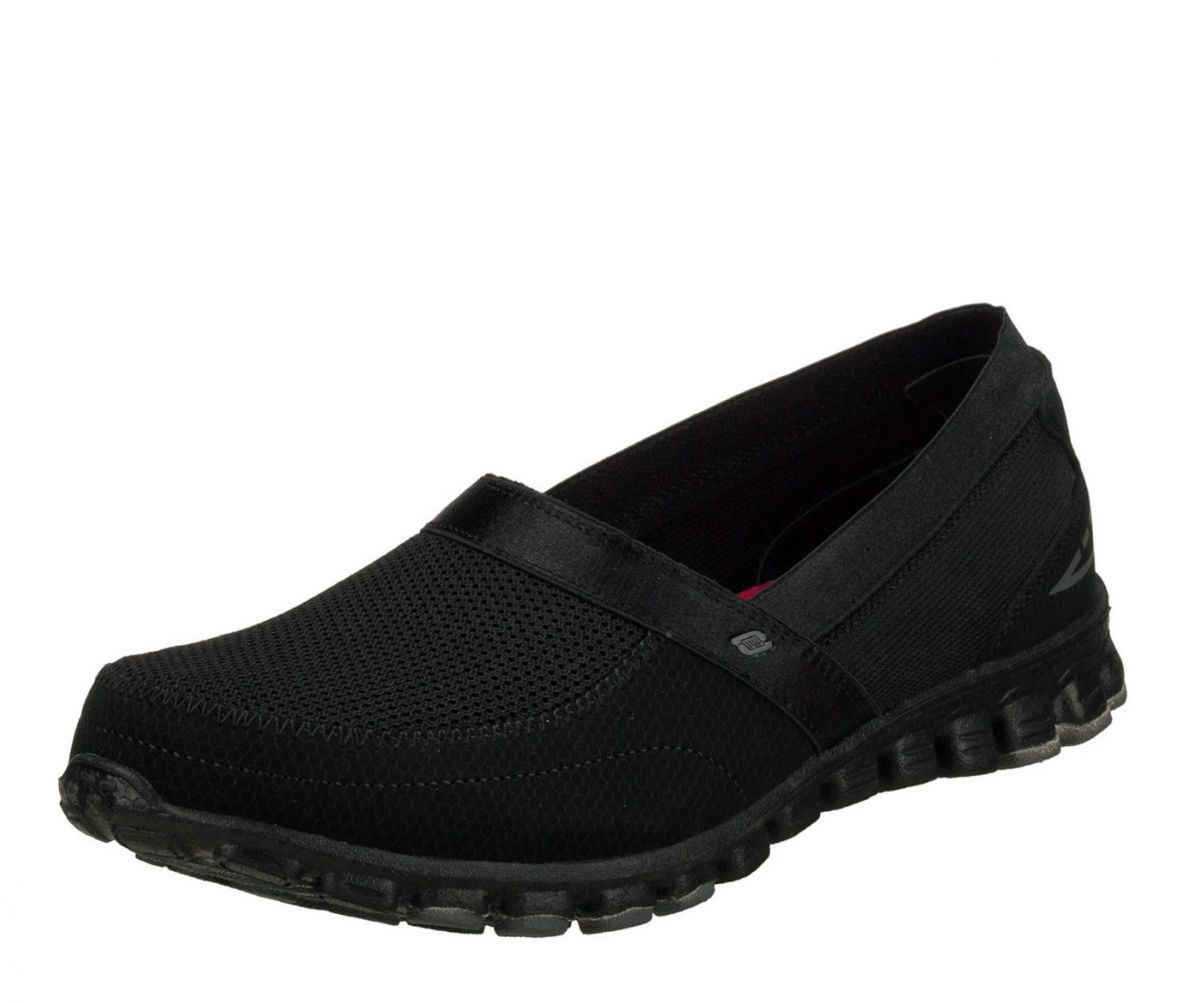 black skechers memory foam womens
