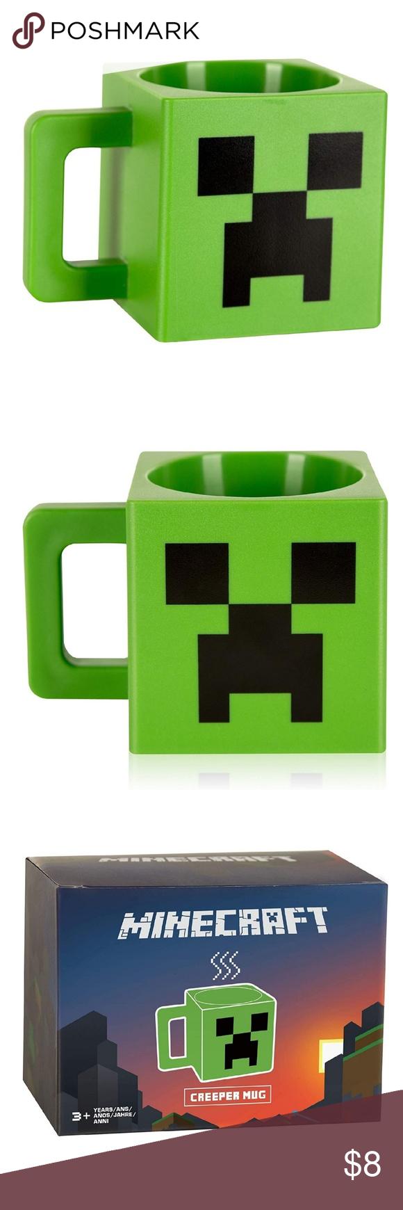 Minecraft Creeper Face Ceramic Mug 8 Ounces Plastic Mugs Mugs Minecraft