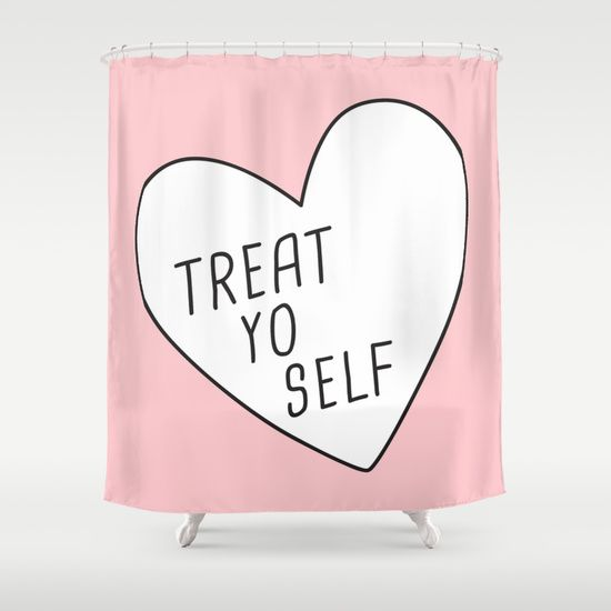 Treat Yo Self Shower Curtain