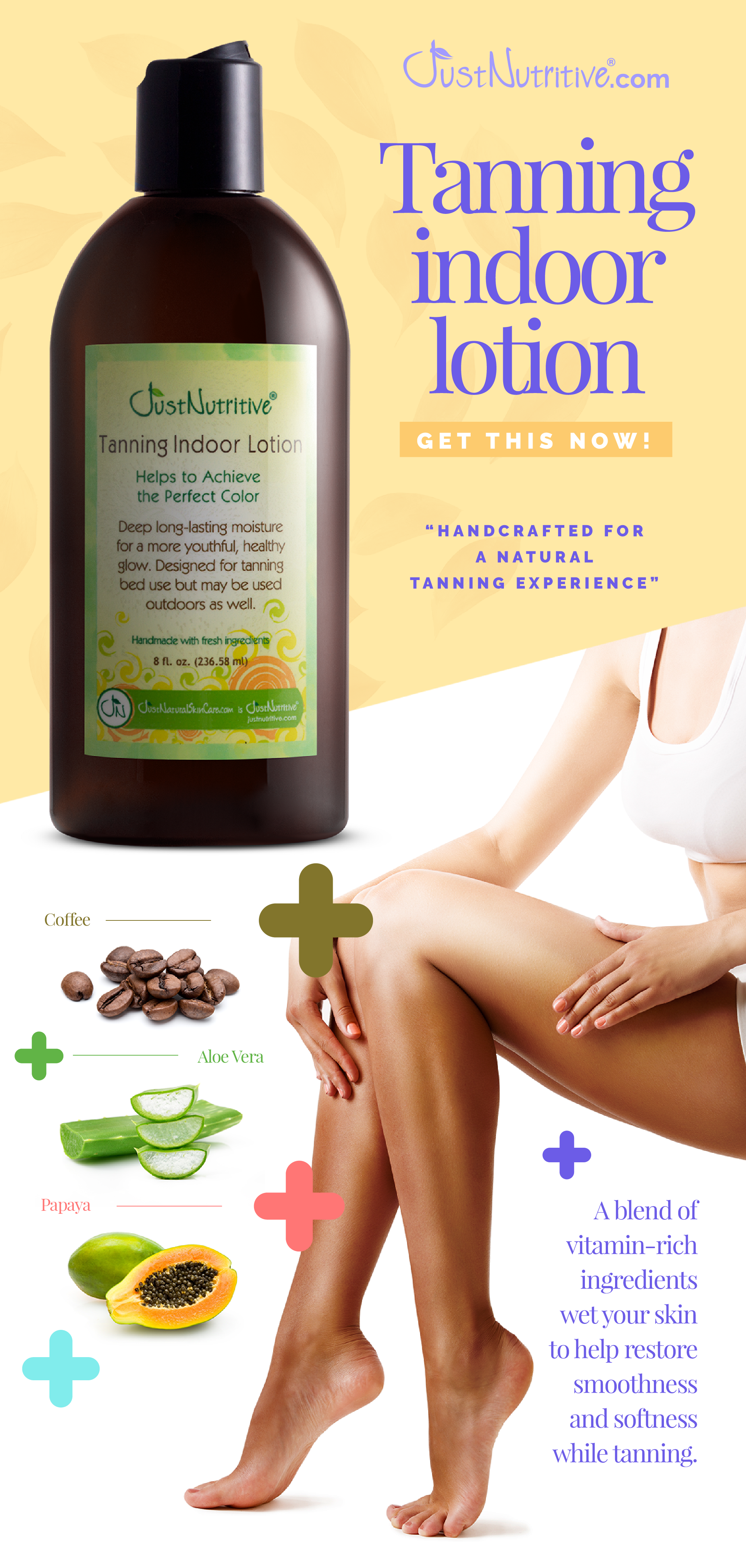 Keep your skin tanned all year! Indoor tanning lotion