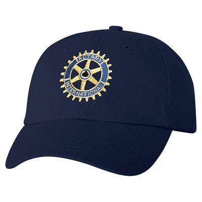 60b332972f4 Russell-Hampton Co. Rotary Club Supplies  Ladies  Navy Cap w 2-Color Logo