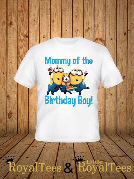 03436f373 Mommy of the Birthday Boy Minion Shirt   Lil man's 6th birthday ...