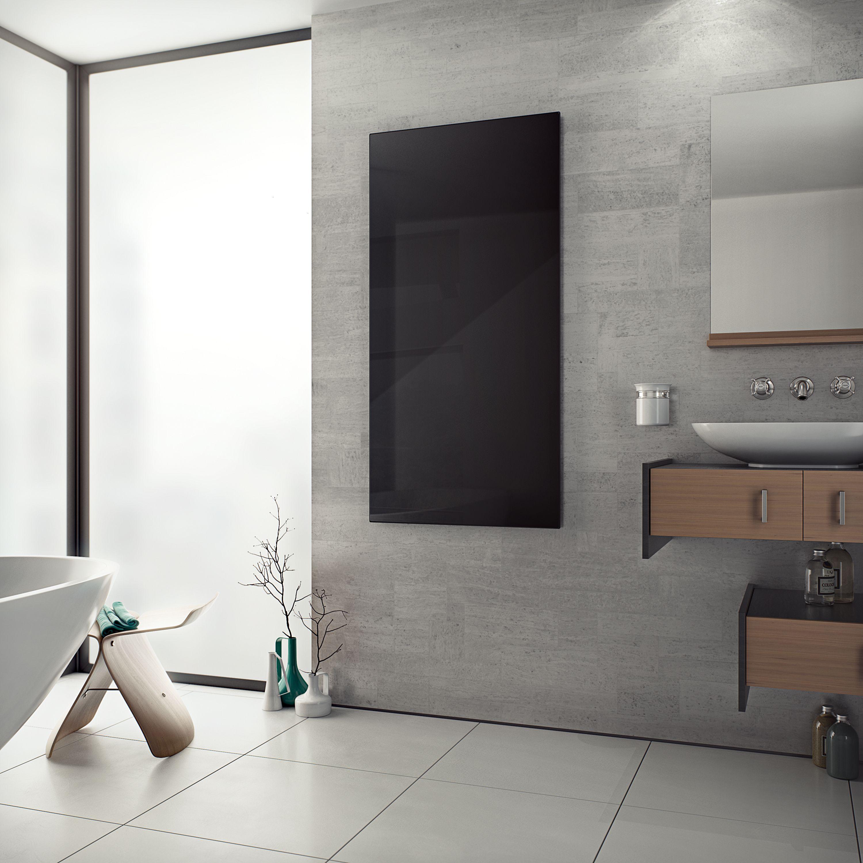 Introducing The Eucotherm White Black Glass Infrared Radiator An Ulta Slim Flat Panel Radiator Manufactured In Eucotherms European Fact Flat Panel Radiators Snug Room Designer Radiator