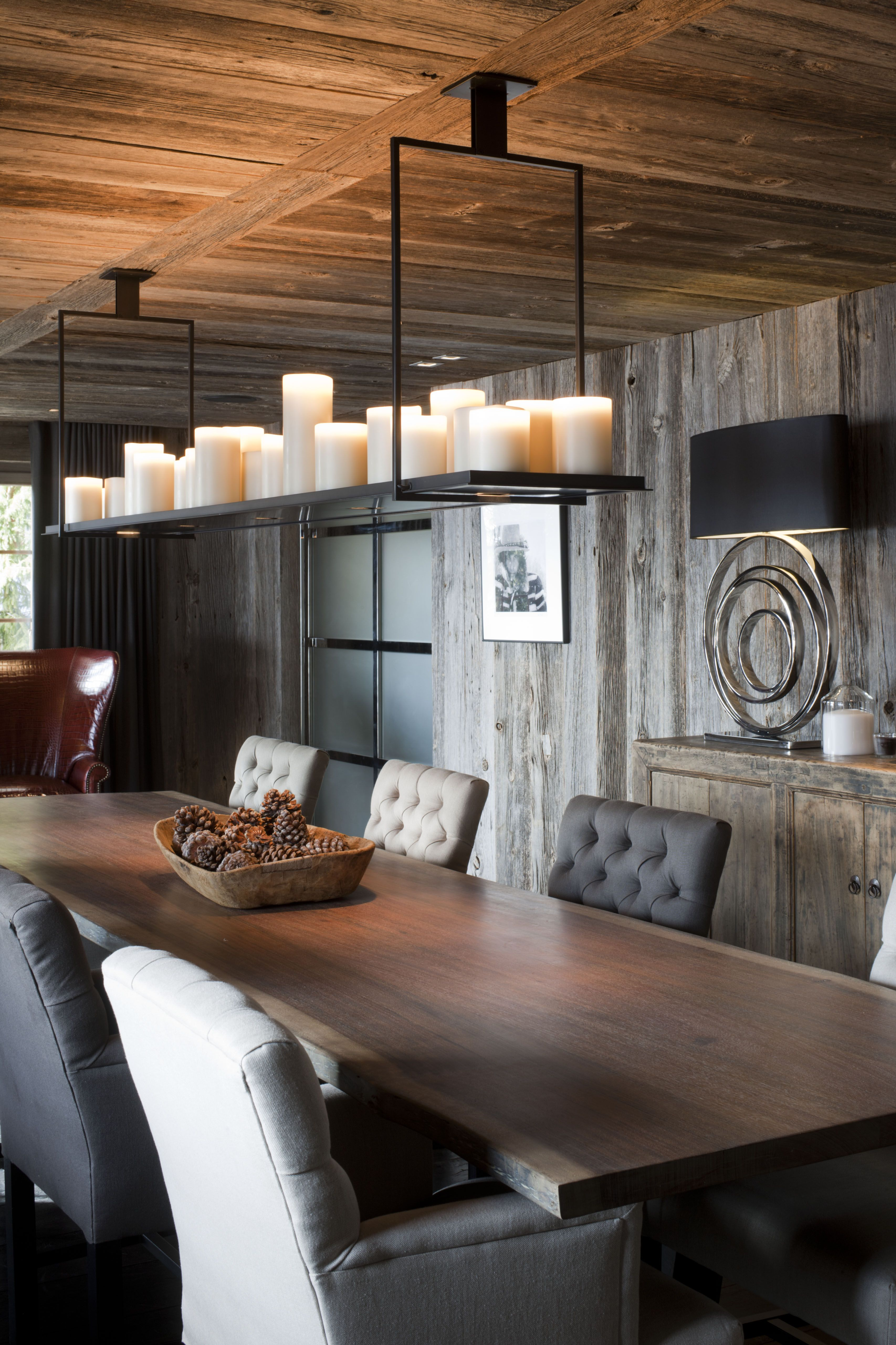 Beleuchtung Esszimmer Landhaus Log House And Transitional Furniture Lamps Pinterest Hütte