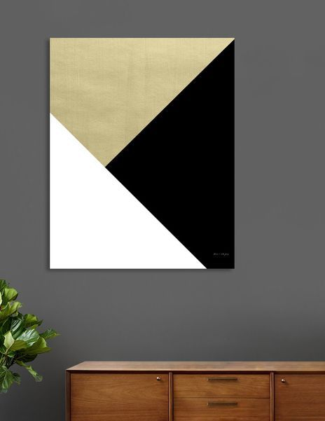«Gold meets Black & White Geometric #1 #minimal #decor #art» Canvas Print by Anita's & Bella's Art - Numbered Edition from $59 | Curioos
