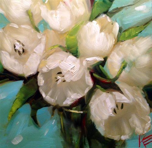 white tulip painting