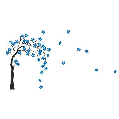 the decal guru tree in the wind wall decal | products | pinterest