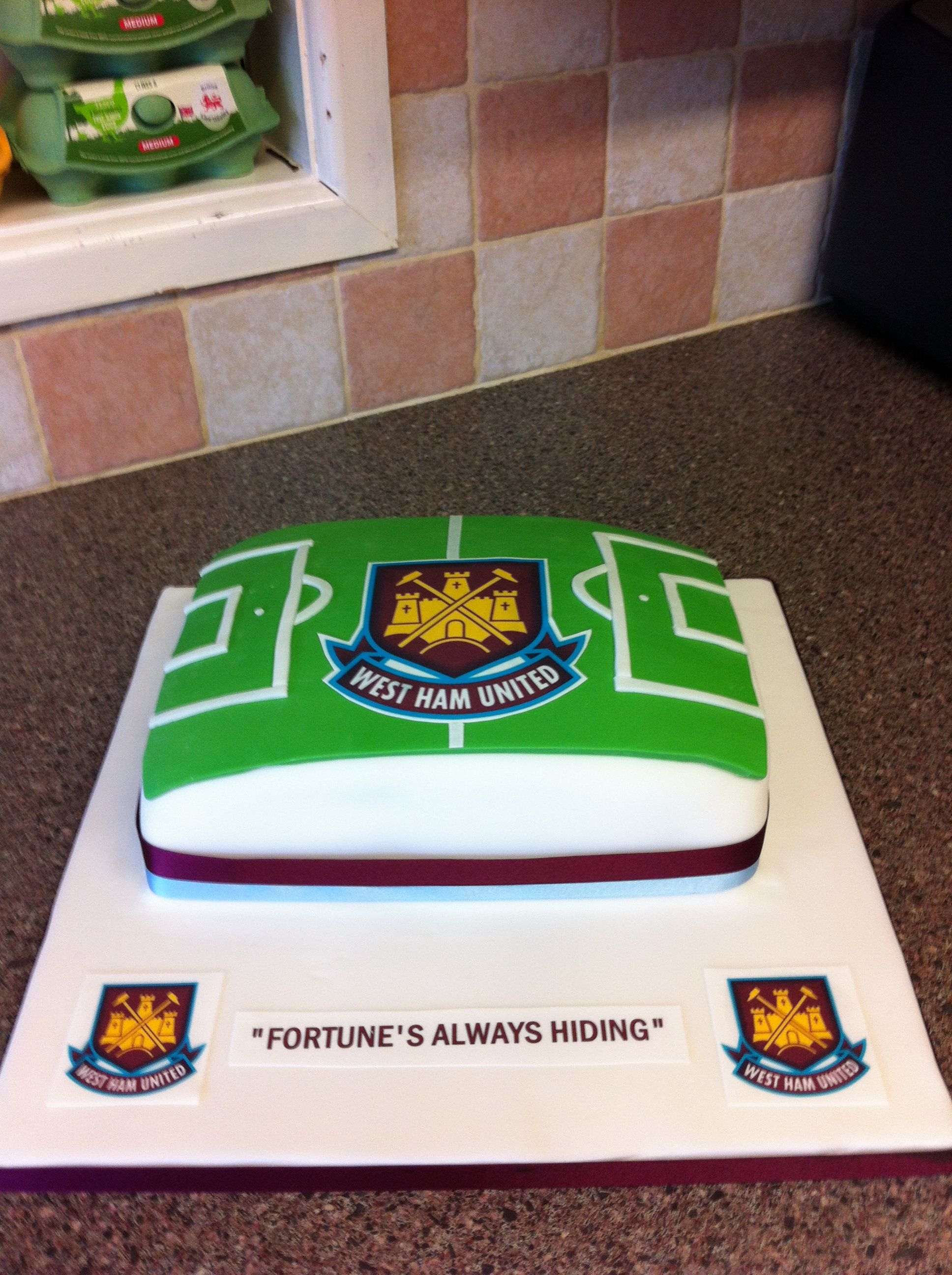 Football Personalised Edible Icing Cake Topper Square Round Rect