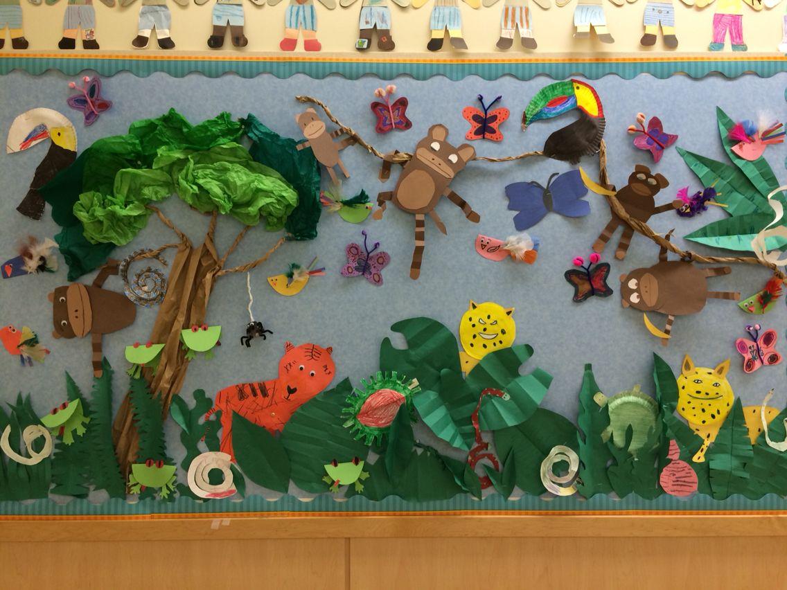 Rainforest Bulletin Board 1st 3rd Graders Made