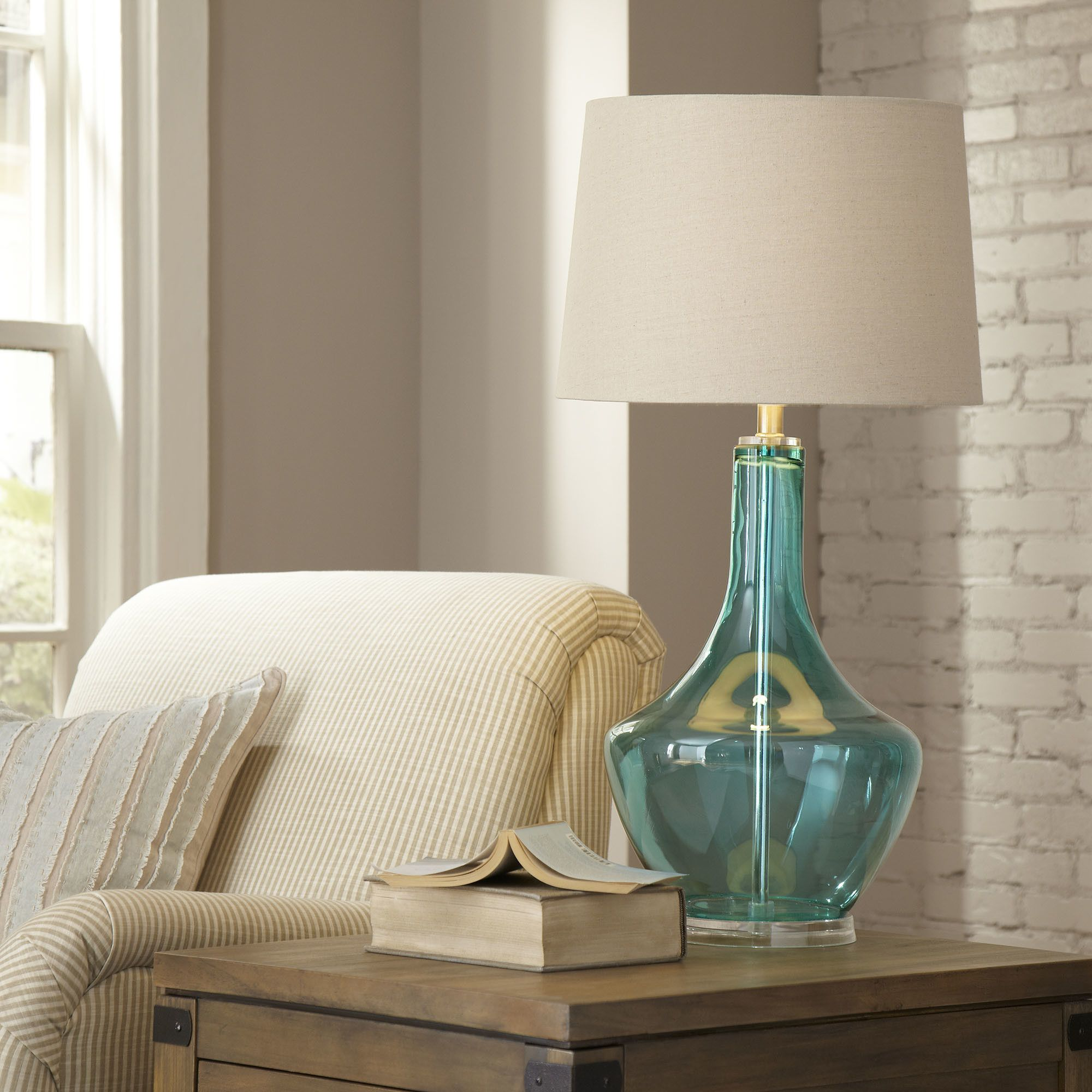 Birch Lane Gracemont Glass Table Lamp Stylish table