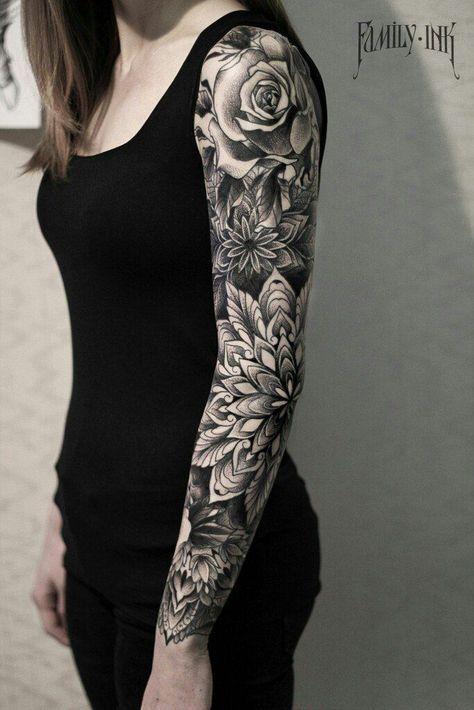 Flores En El Brazo Tatto Body Girl Flowers Tatto Tatuaje