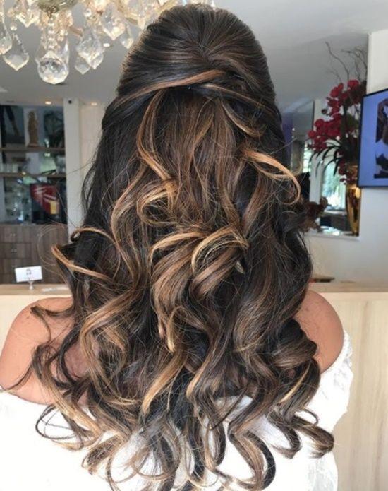 penteados semi presos