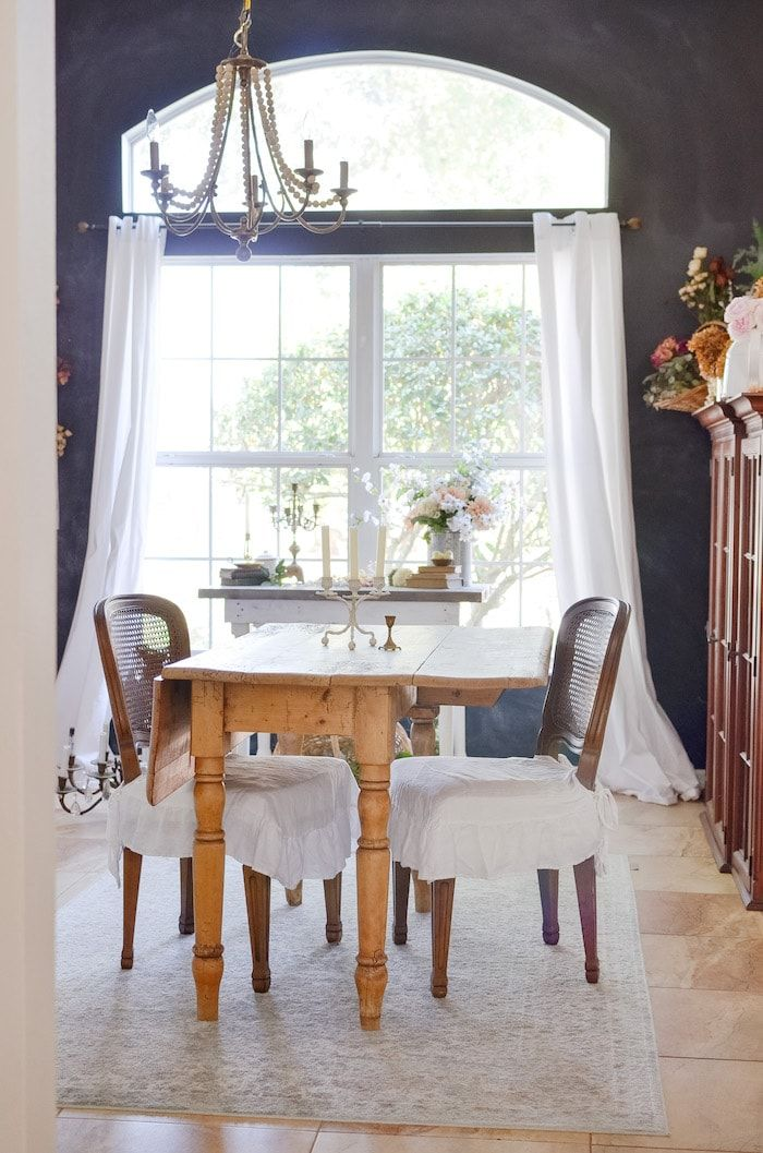 If you enjoy gleaning ideas from the French country cottage style, then this home tour done on a budget will give you inspiration with loads of vintage charm! #budgetdecorating #frenchcountrycottage #shabbychic #vintage #hometour #cottagestyle #vintagerepurposing #antiques #sff225 #thrifted