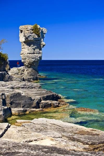 Picture of Scenic shoreline Flowerpot Island Fathom Five National Marine Park Lake Huron Ontario